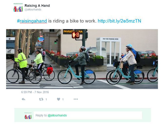 #raisingahand is riding a bike to work. http://bit.ly/2e5mzTN