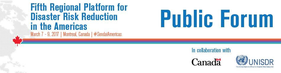 UNISDR 5th Regional Platform Public Forum Logo